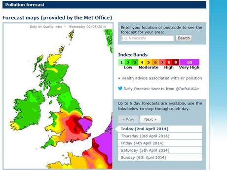 pollution map