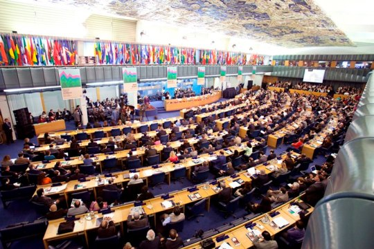 17 October 2011, Rome - General view. World Food Day Ceremony, FAO headquarters (Plenary Hall).