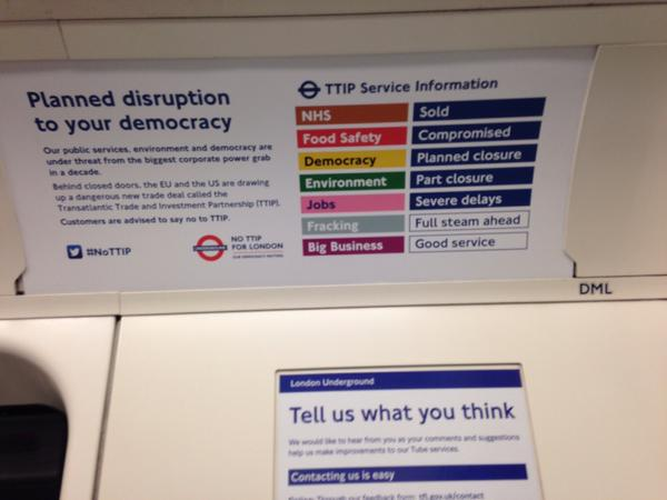 TTIP on the tube