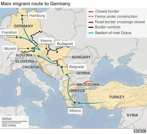 migrant route eu