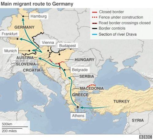 migrant route eu