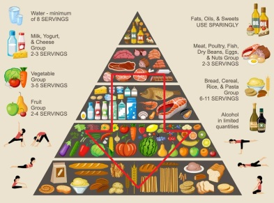 Food-Pyramid arrow