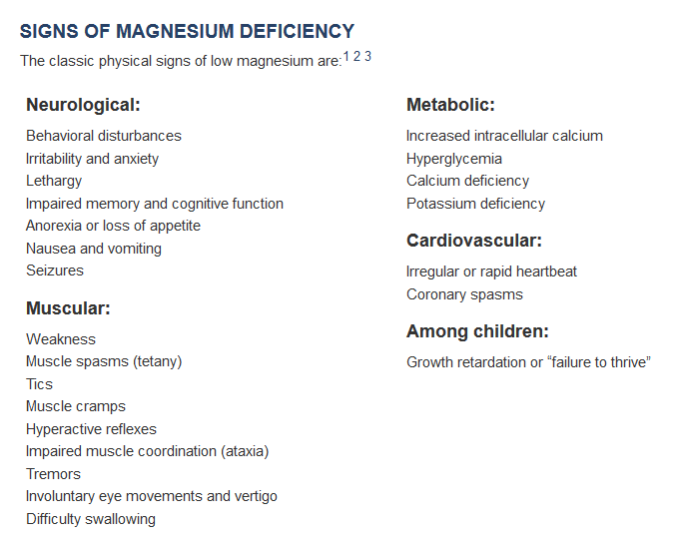 mag deficiency 1